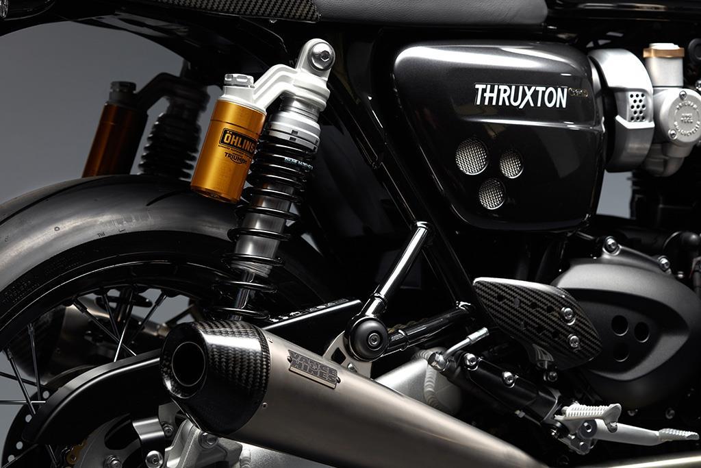 Triumph Thruxton TFC piggy back rear shocks