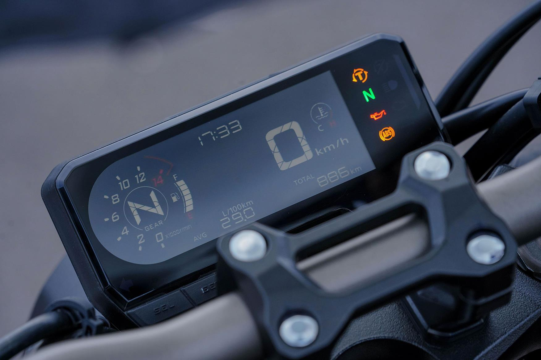 Honda CB650R dash is tough to see in daylight