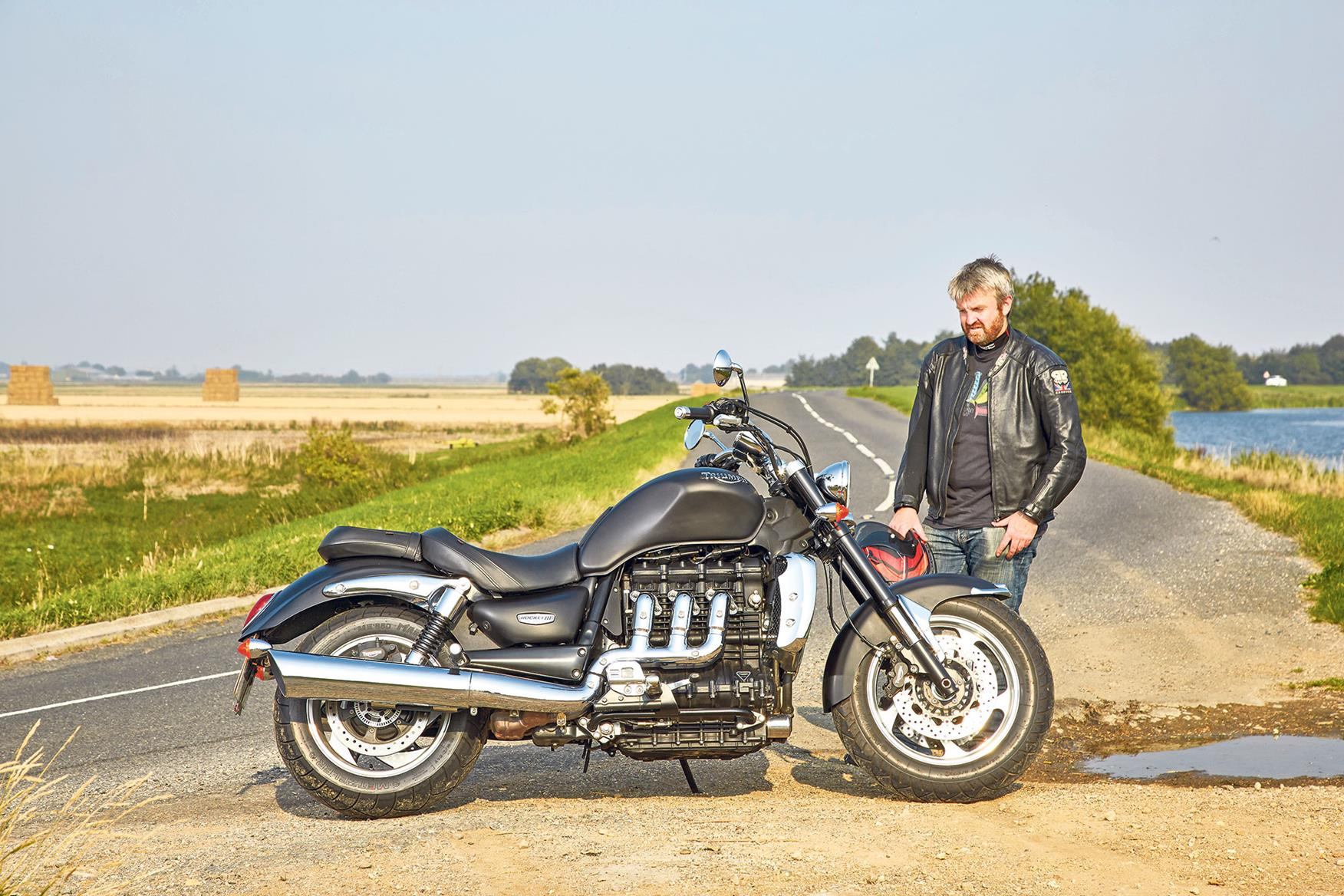 The Triumph Rocket III static