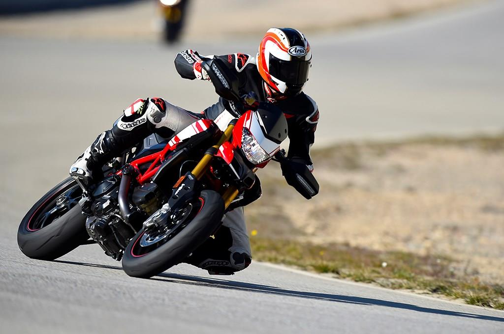On track on the Ducati Hypermotard 939