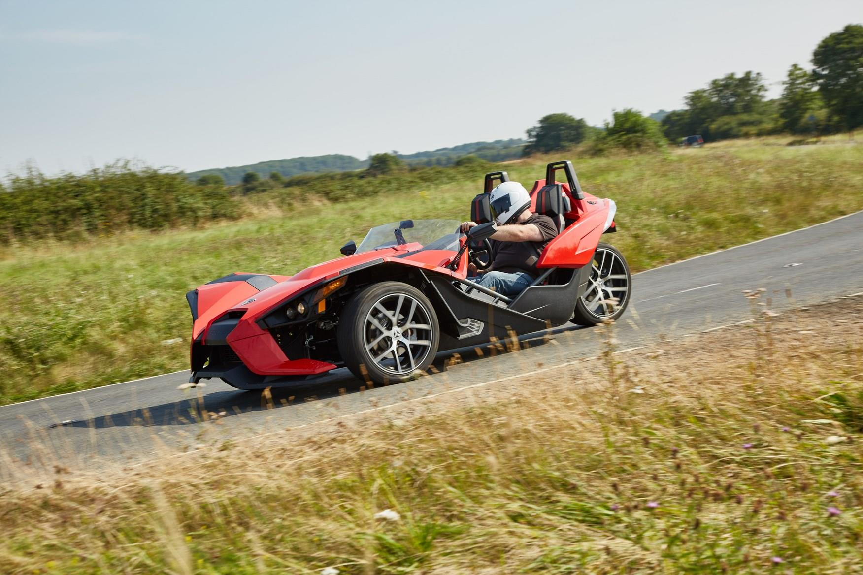 The Polaris Slingshot in action