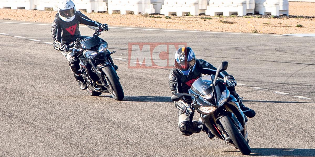 Triumph Daytona 765 spotted with Moto2 Speed Triple engine