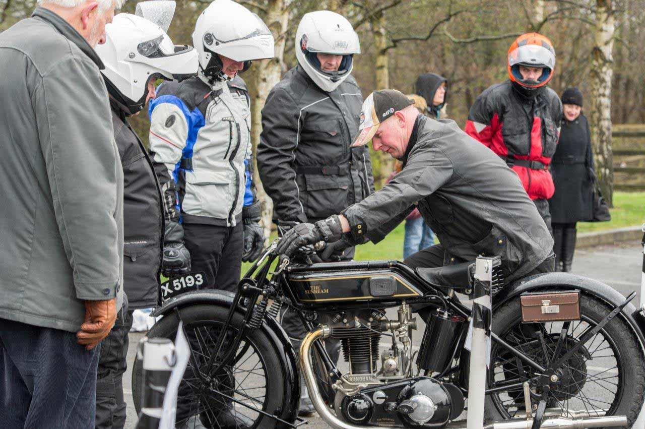 Learning to ride a classic motorcycle