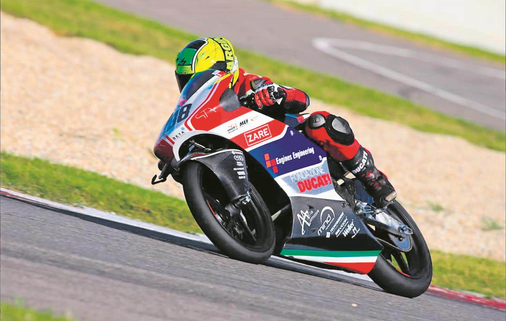 Electric student racer also had help from Ducati