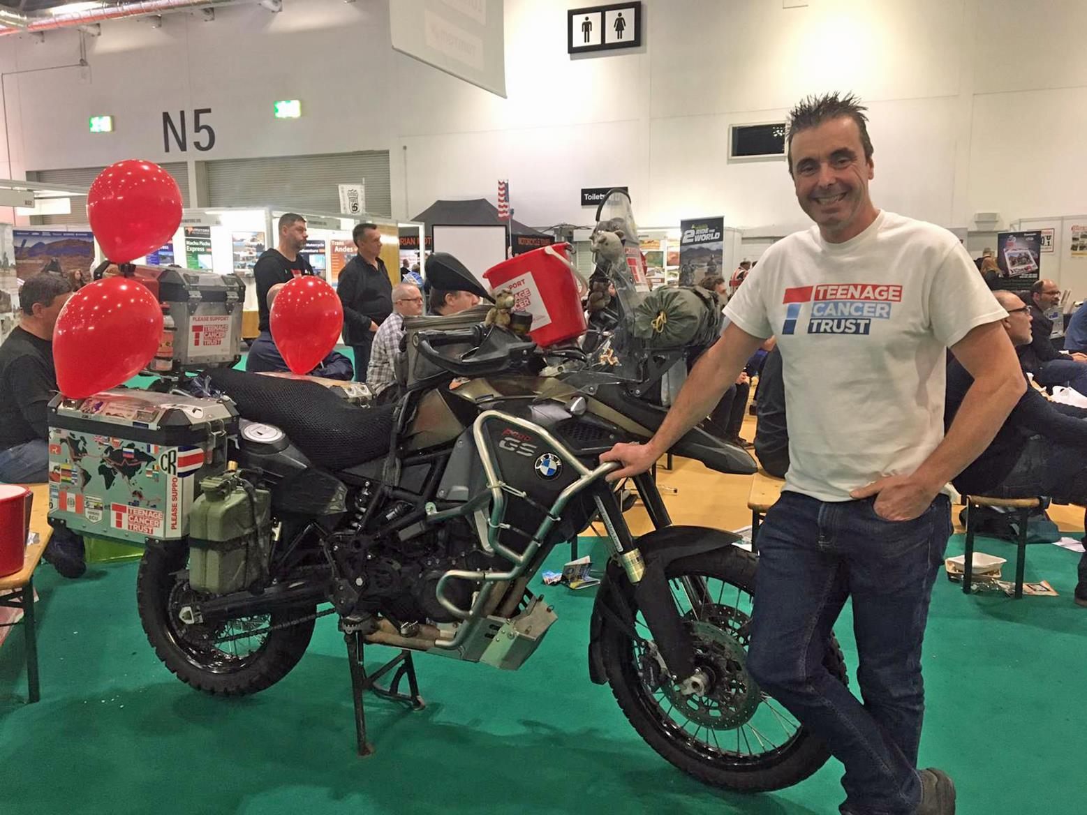 Teenage Cancer Trust raising money at MCN Show