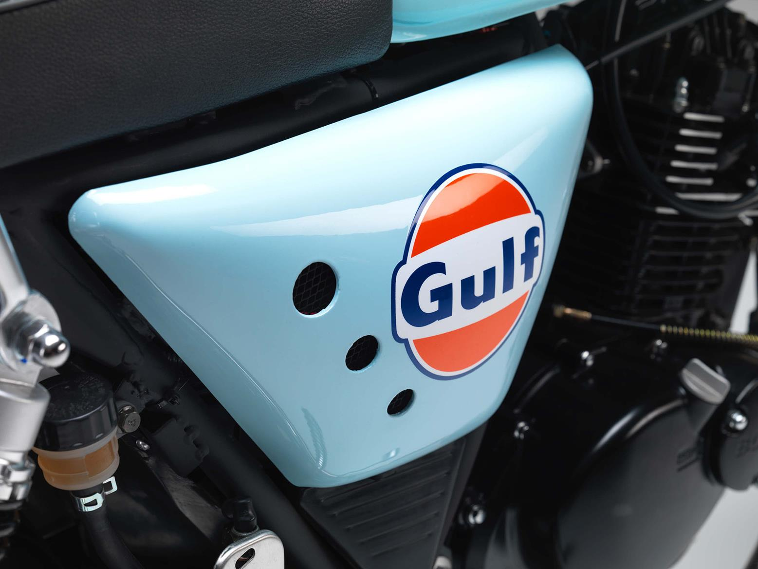 Gulf Oil side panel detail