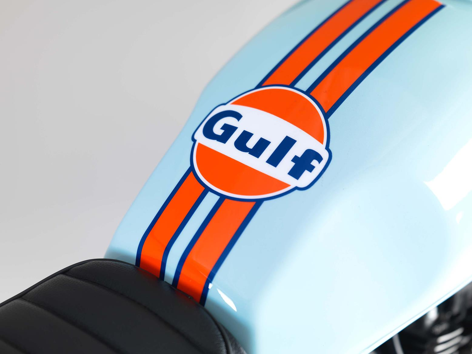 Gulf Oil fuel tank detail