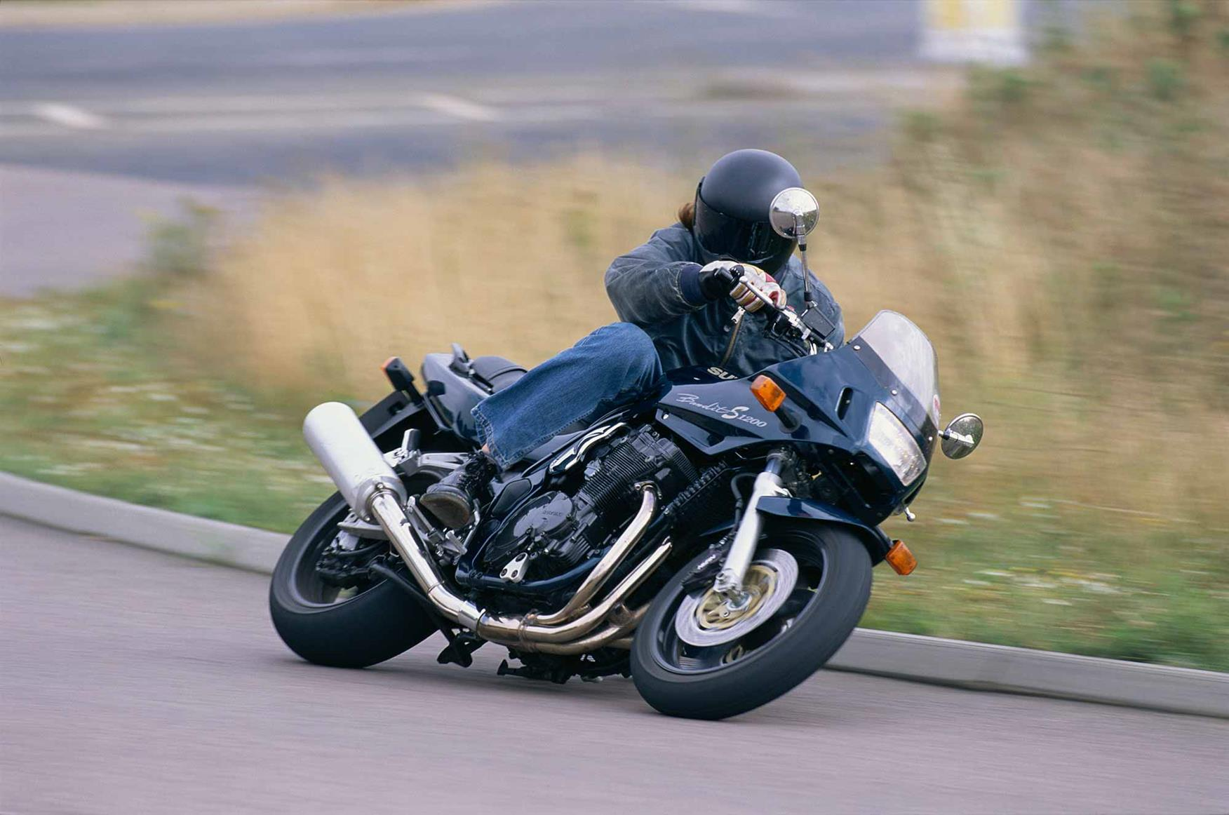 In action in 1996 on the original Bandit 1200