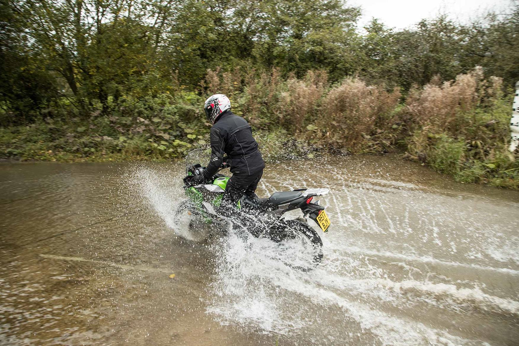Hitting the water on the Kawasaki