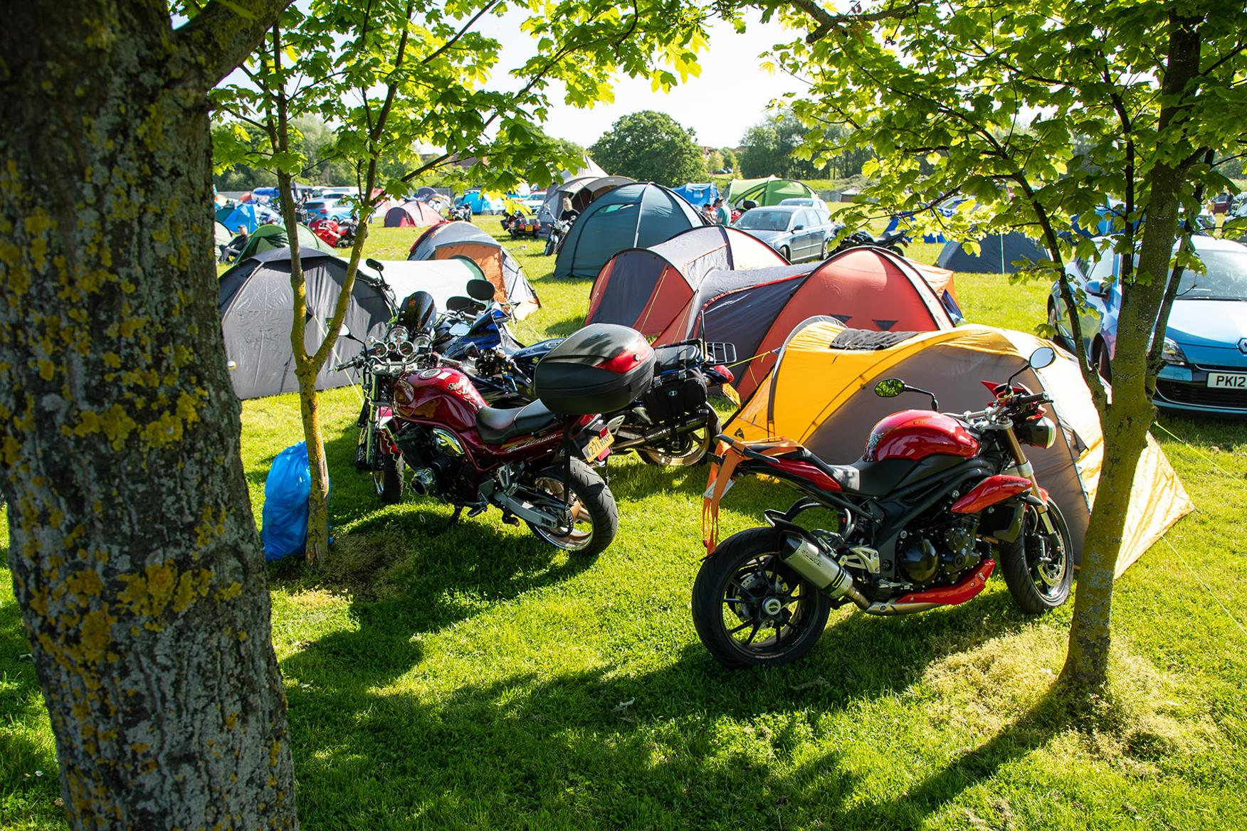 Camping at the MCN Festival