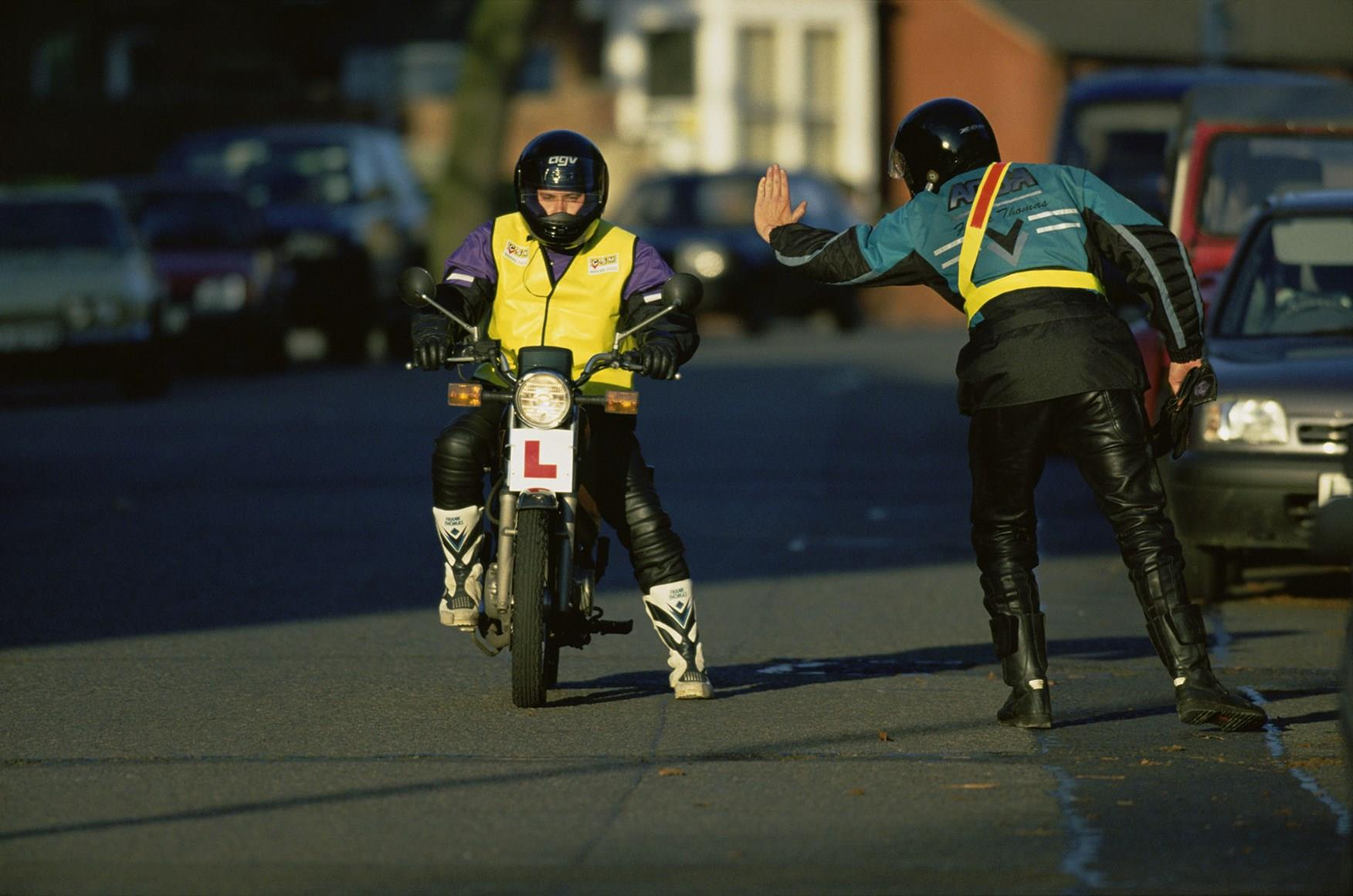 An emergency stop is a vital part of learning to ride a motorcycle