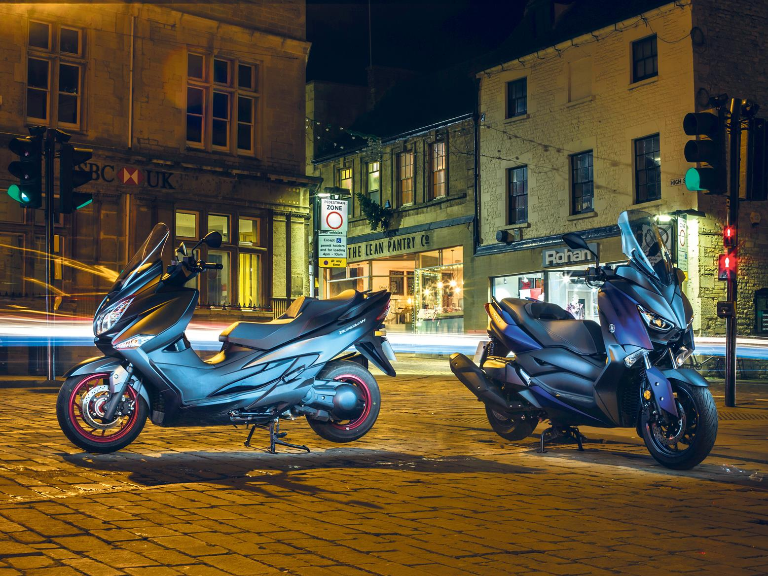 Be very careful when securing your motorcycle when riding at night. Theft is always a risk...