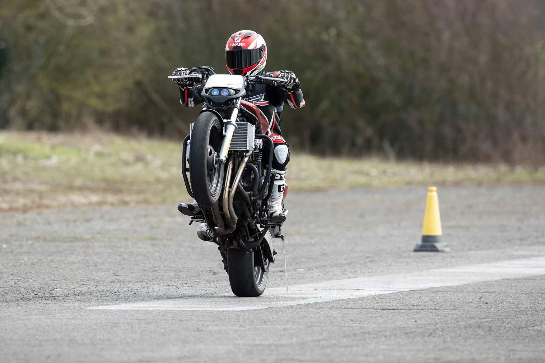 Throttle control is key for a wheelie