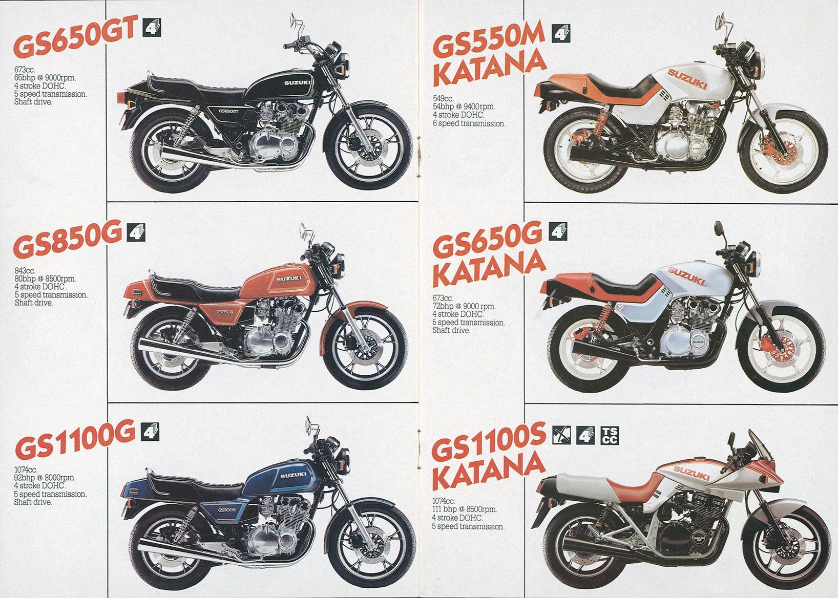 Original Suzuki Katana brochure