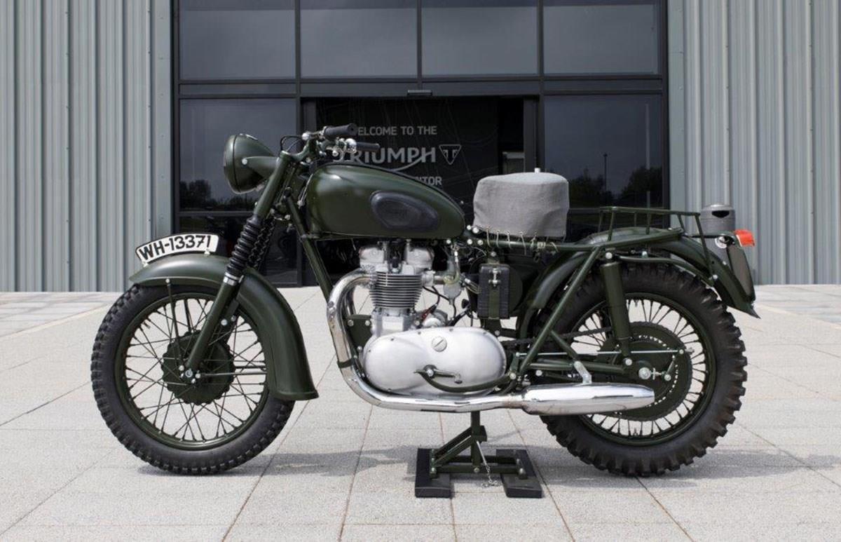 The original Triumph TR6 used in The Great Escape