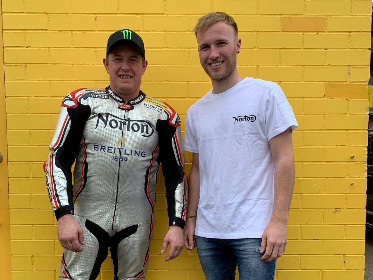 Todd poses with McGuinness