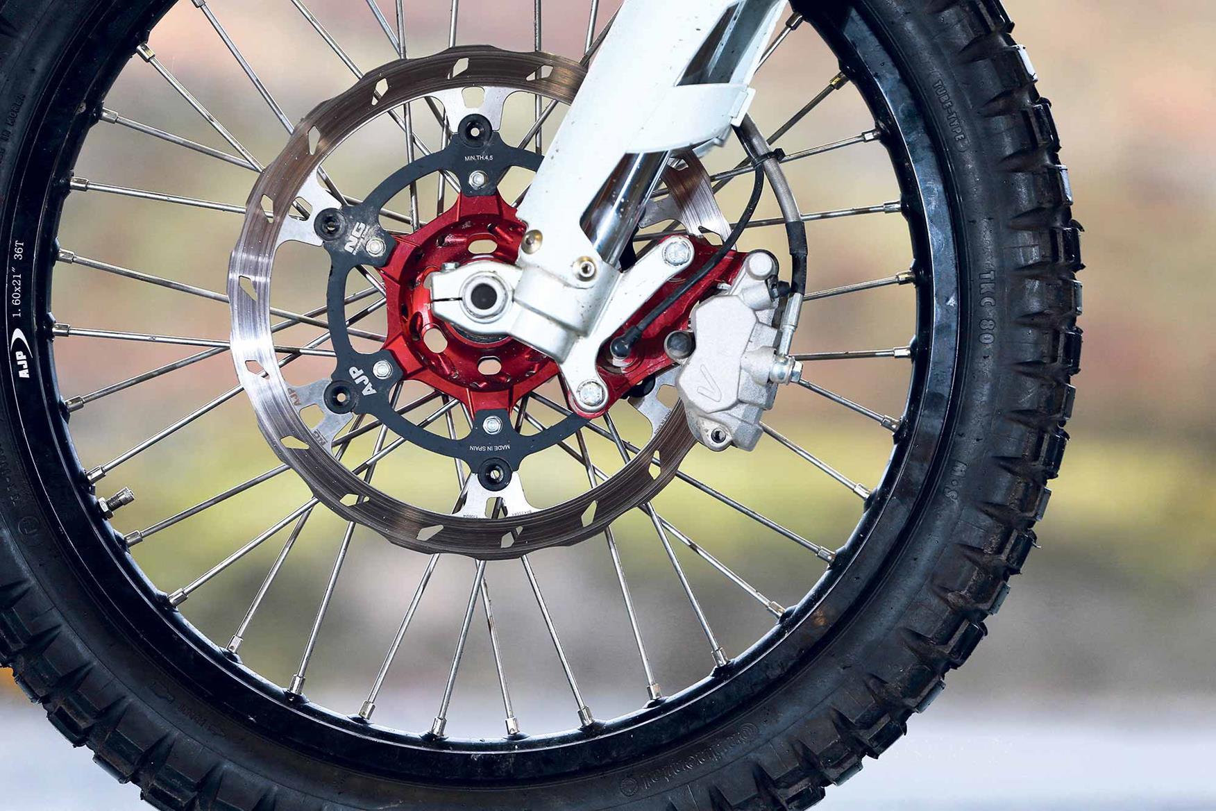 AJP PR7 front brakes