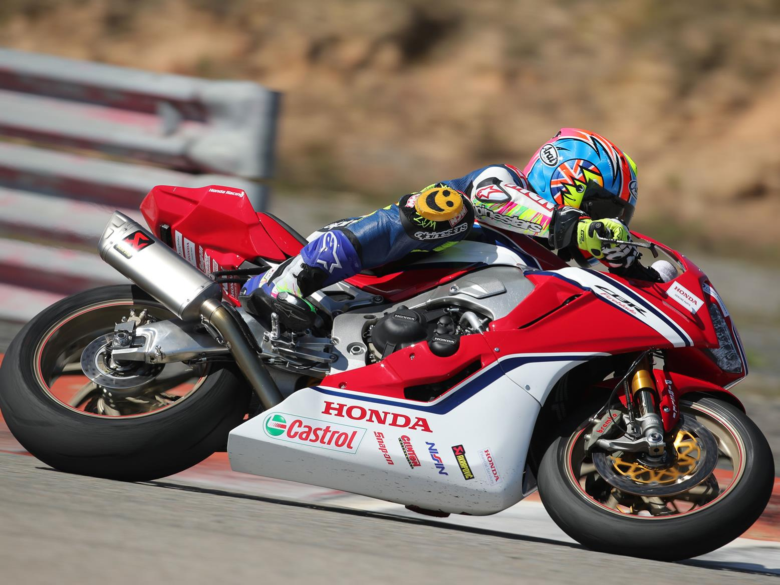 Michael Neeves on the Honda Fireblade SP2 superstock bike