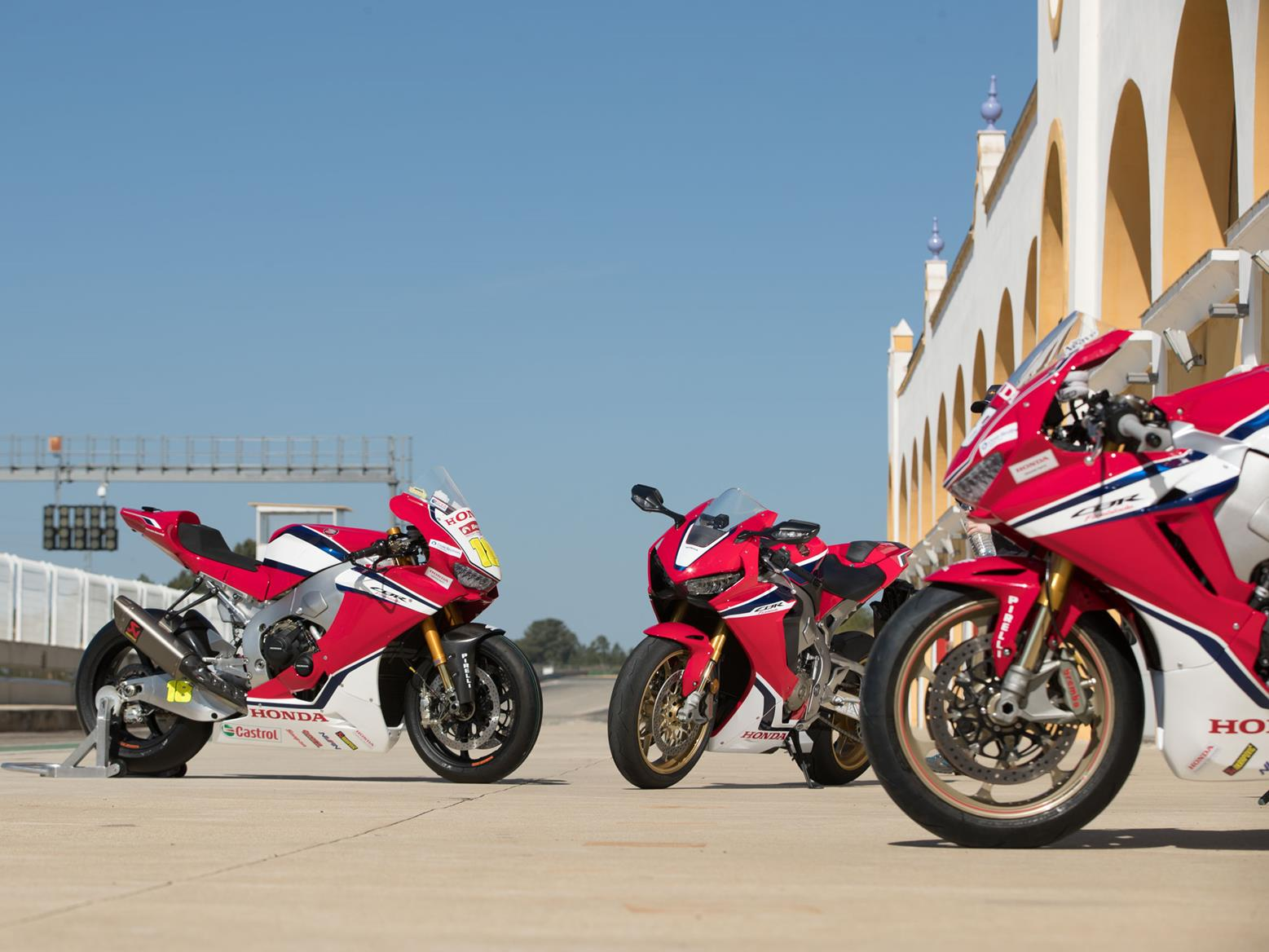 Three fast Honda Fireblades, one race circuit and a handy rider. There are worse days out