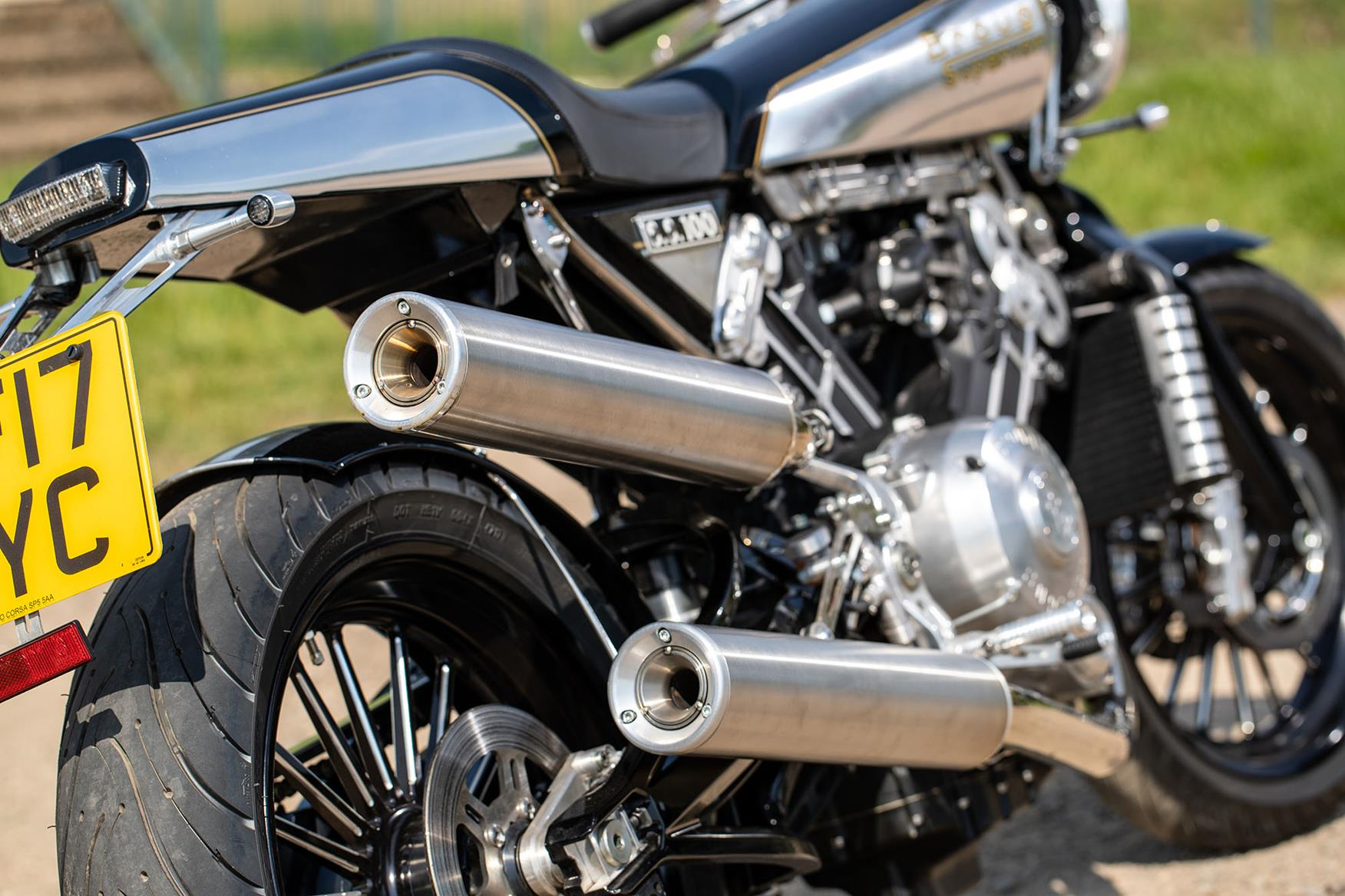Brough Superior SS100 exhausts