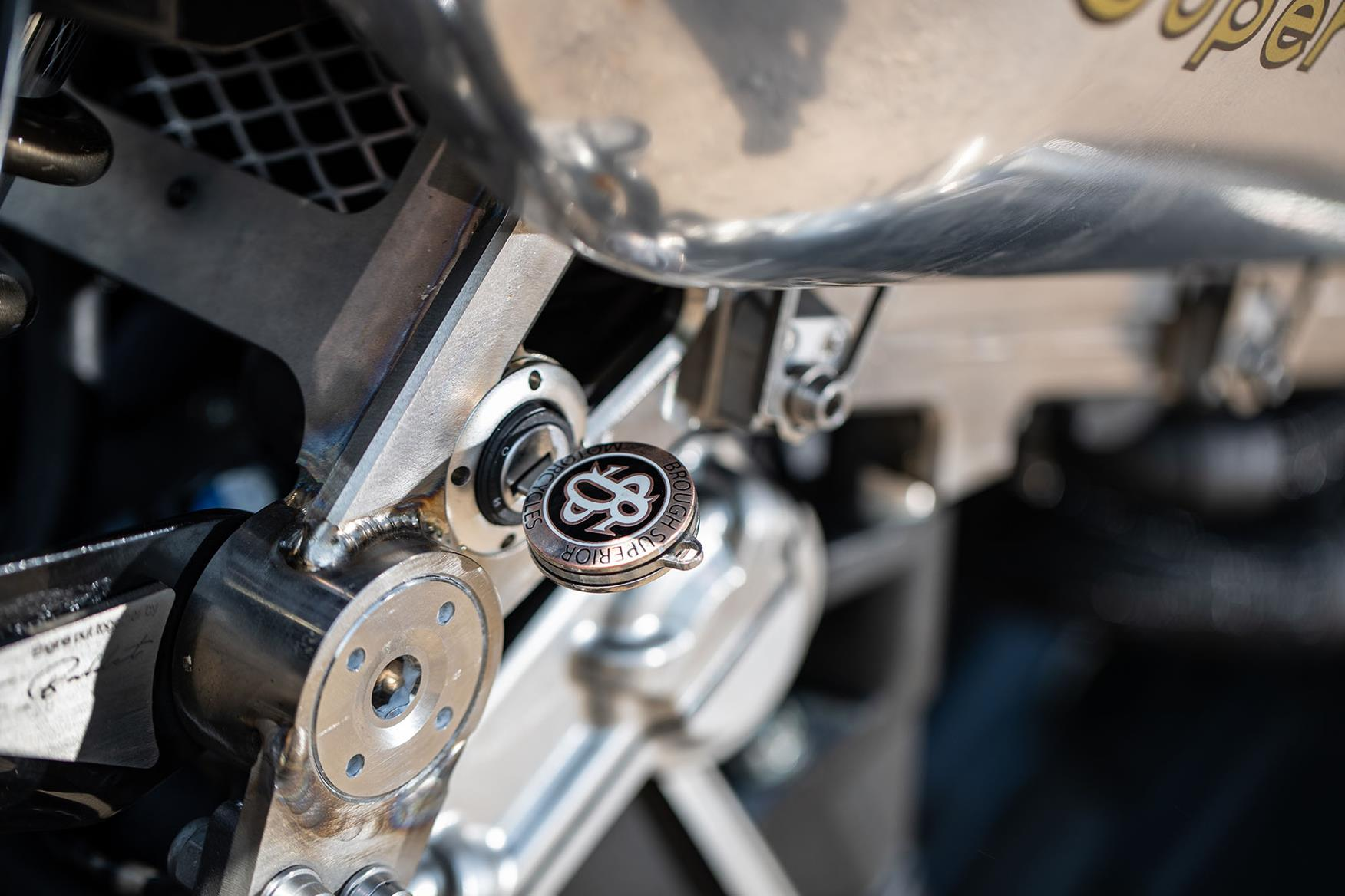 Brough Superior SS100 key in ignition