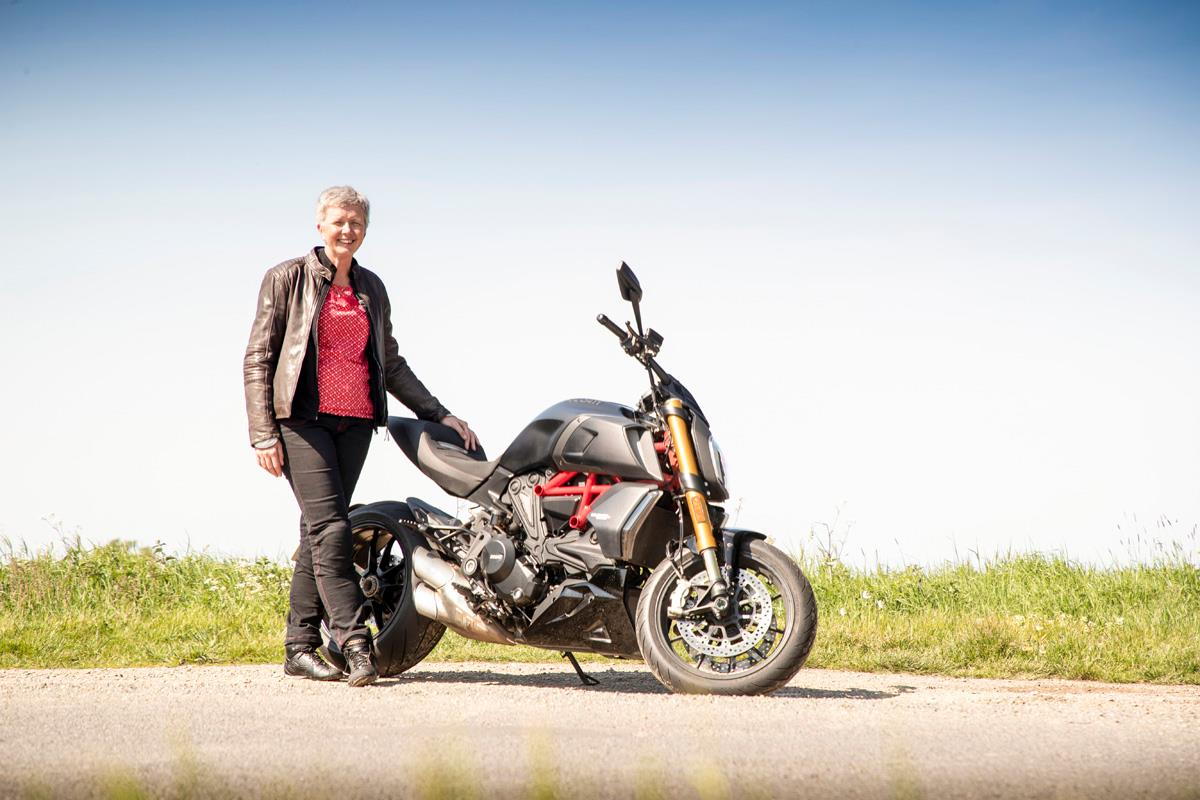 Standing with the Ducati Diavel 1260S