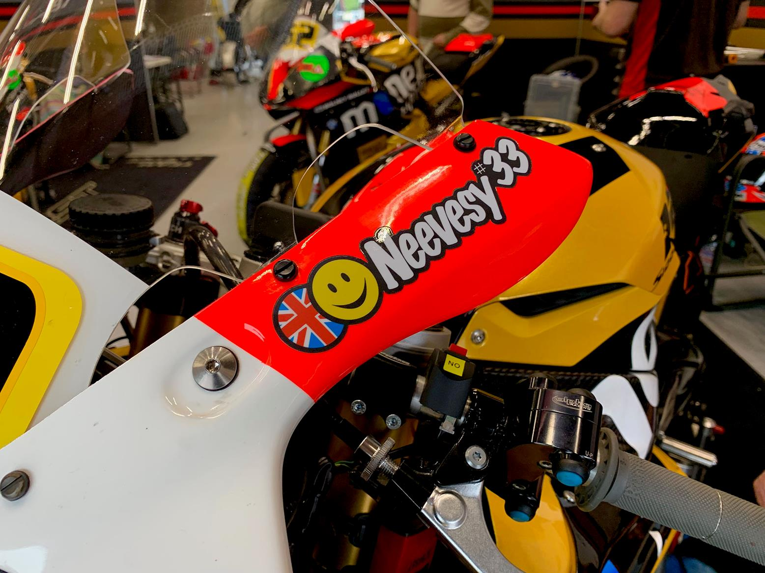 A race bike isn't complete without full factory stickers...