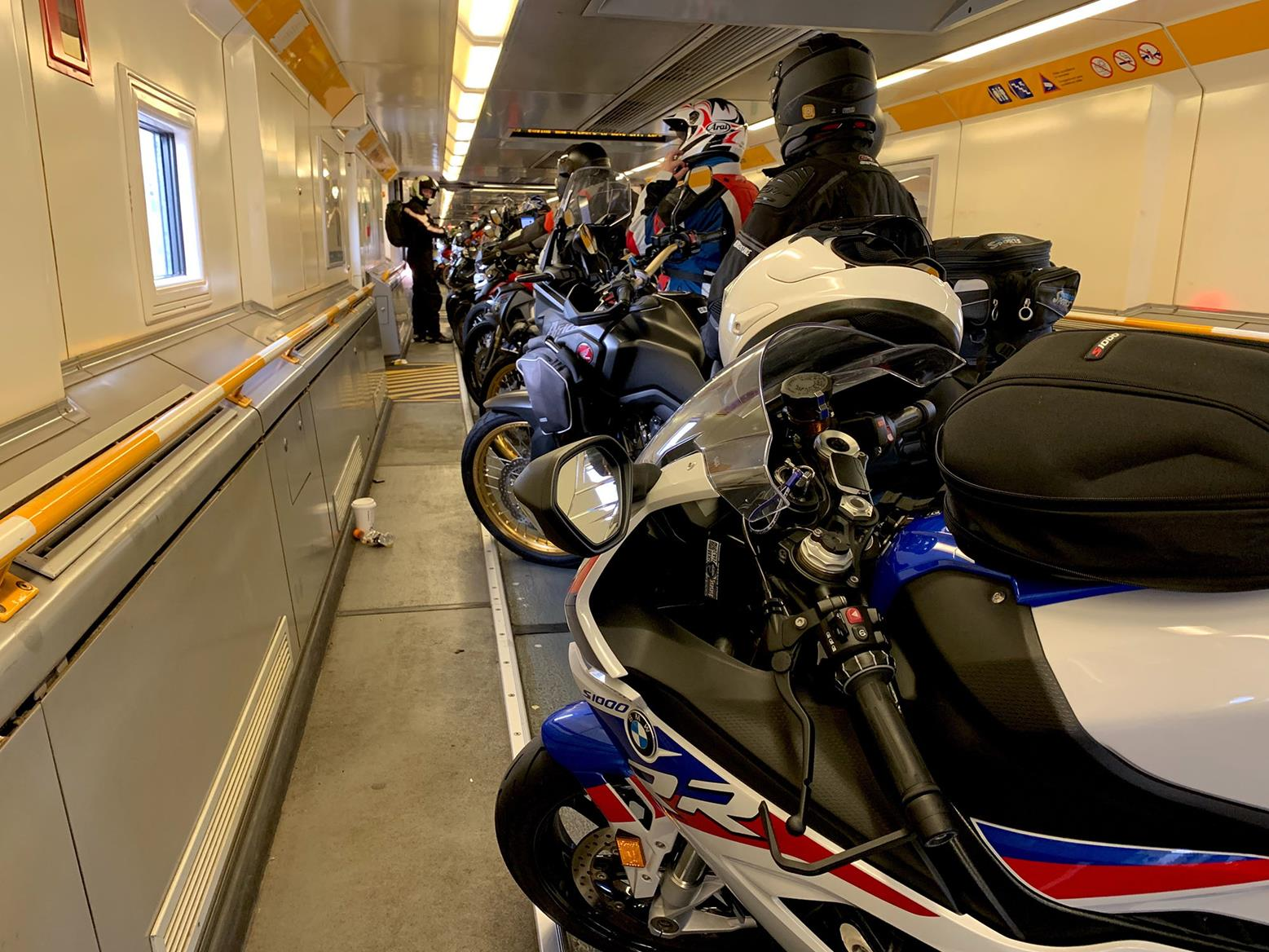 Crossing into Europe on the BMW S1000RR