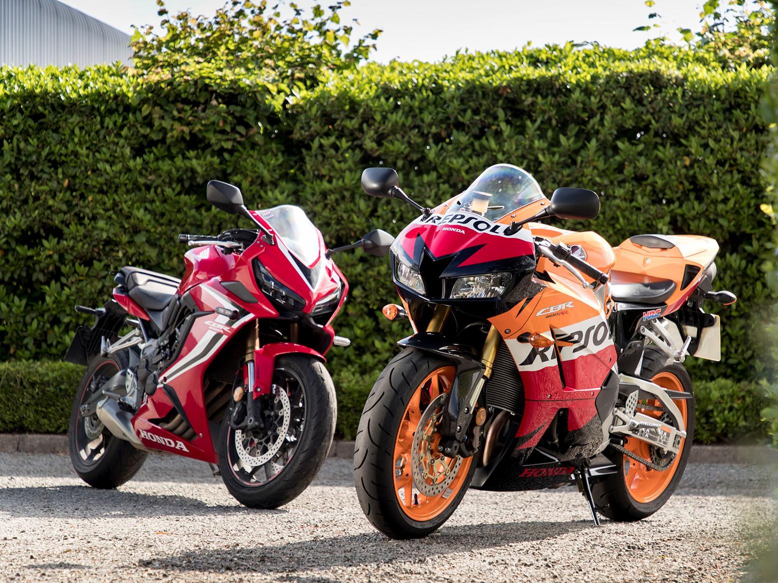Honda CBR650R and CBR600RR