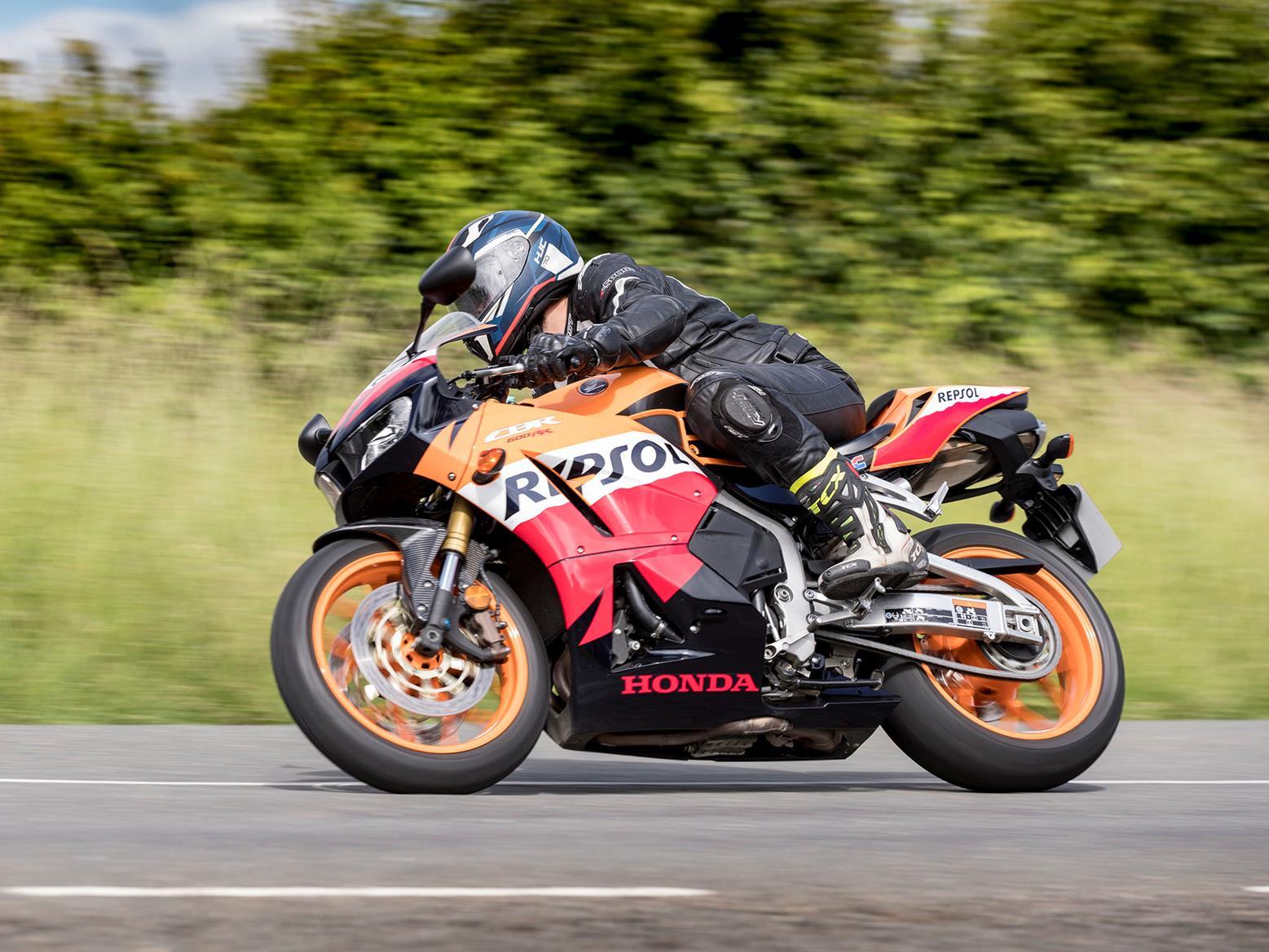 Honda CBR600RR turning right