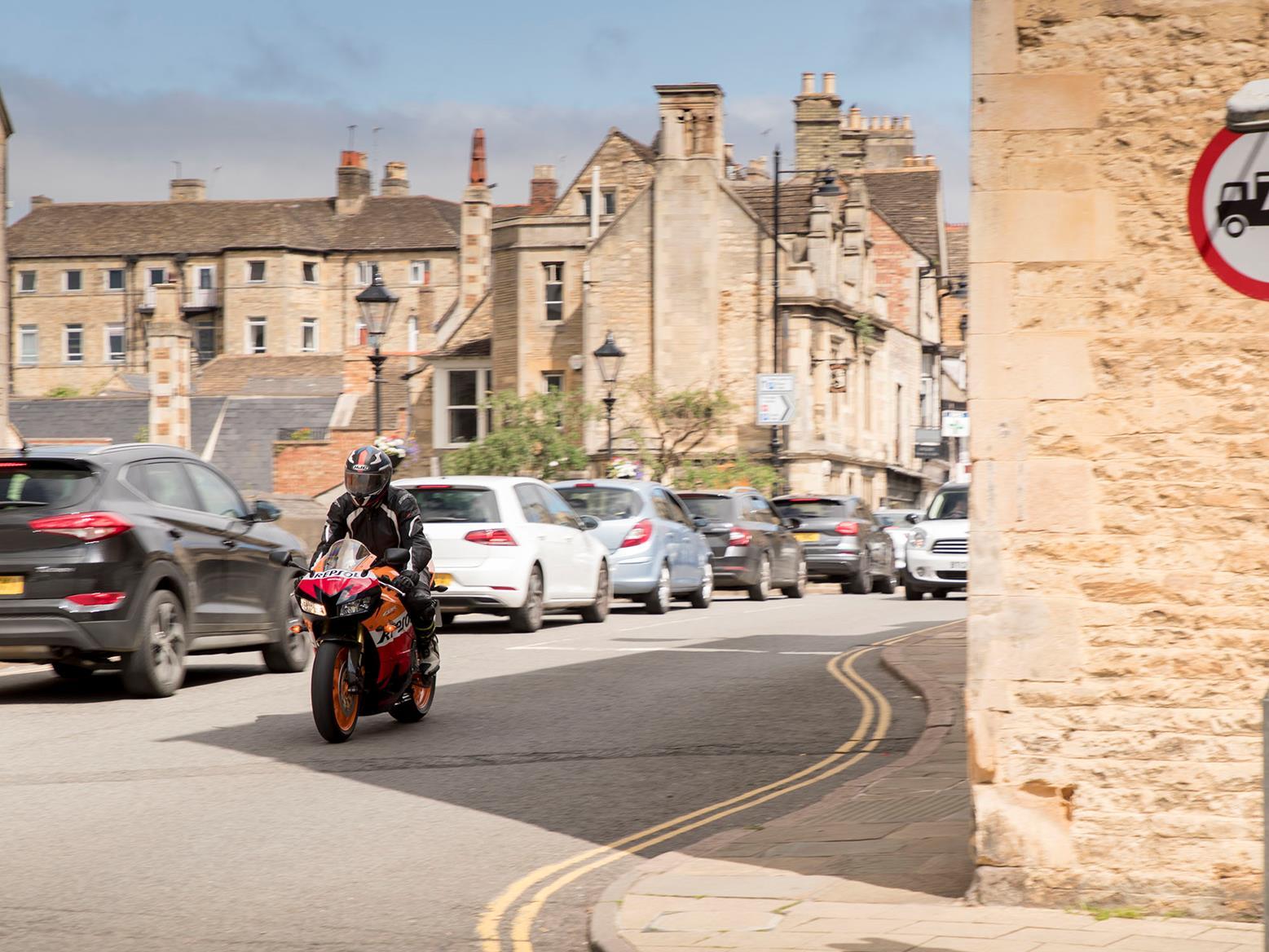Honda CBR600RR in town