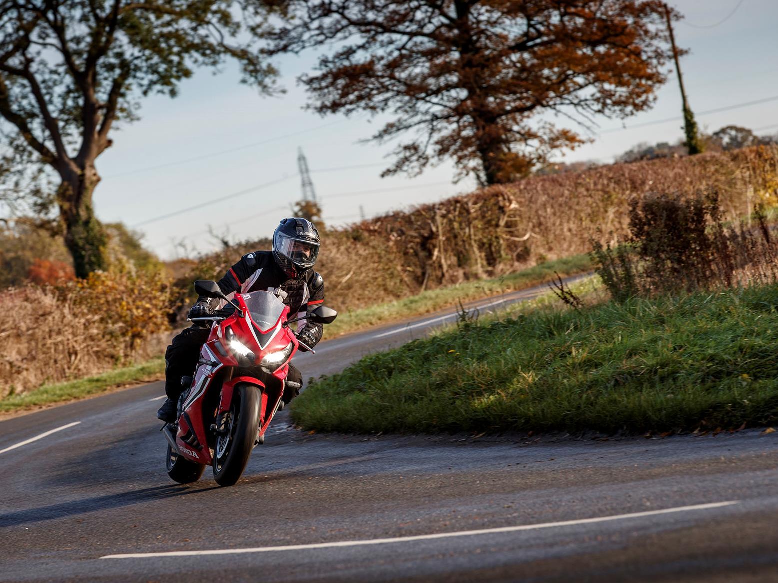 Honda CBR650R winter road