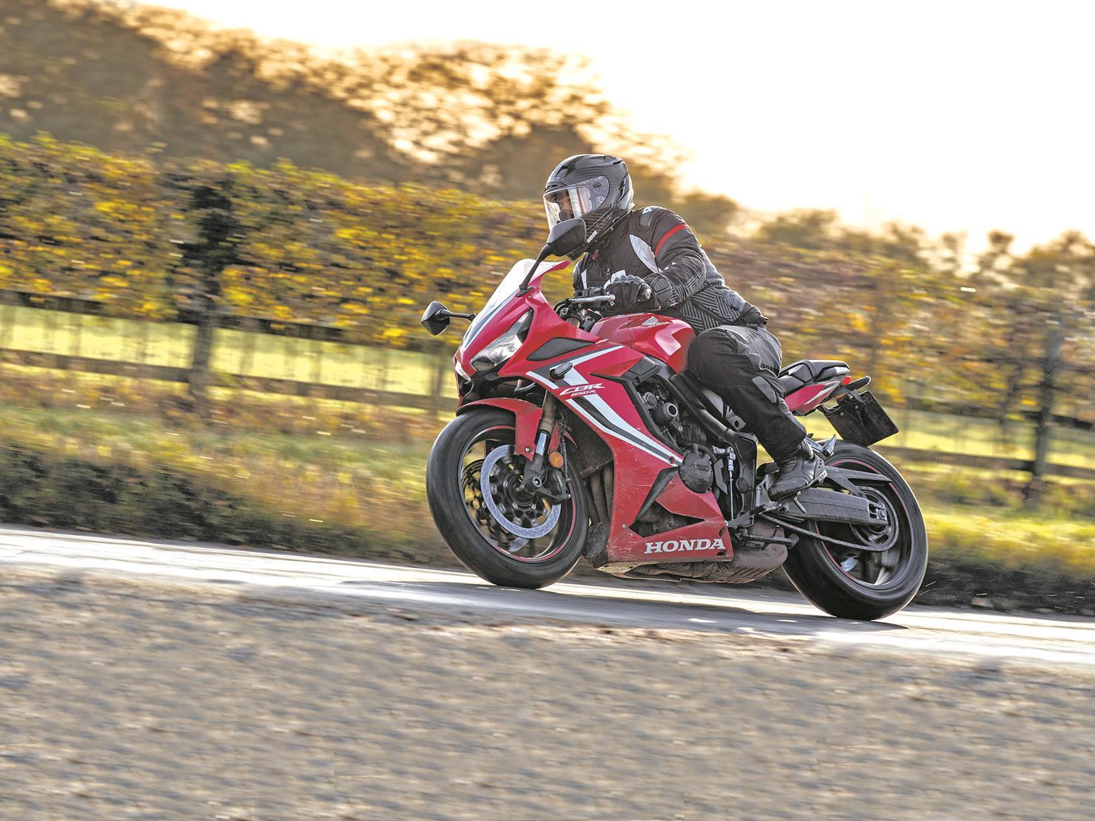 Honda CBR650R in winter