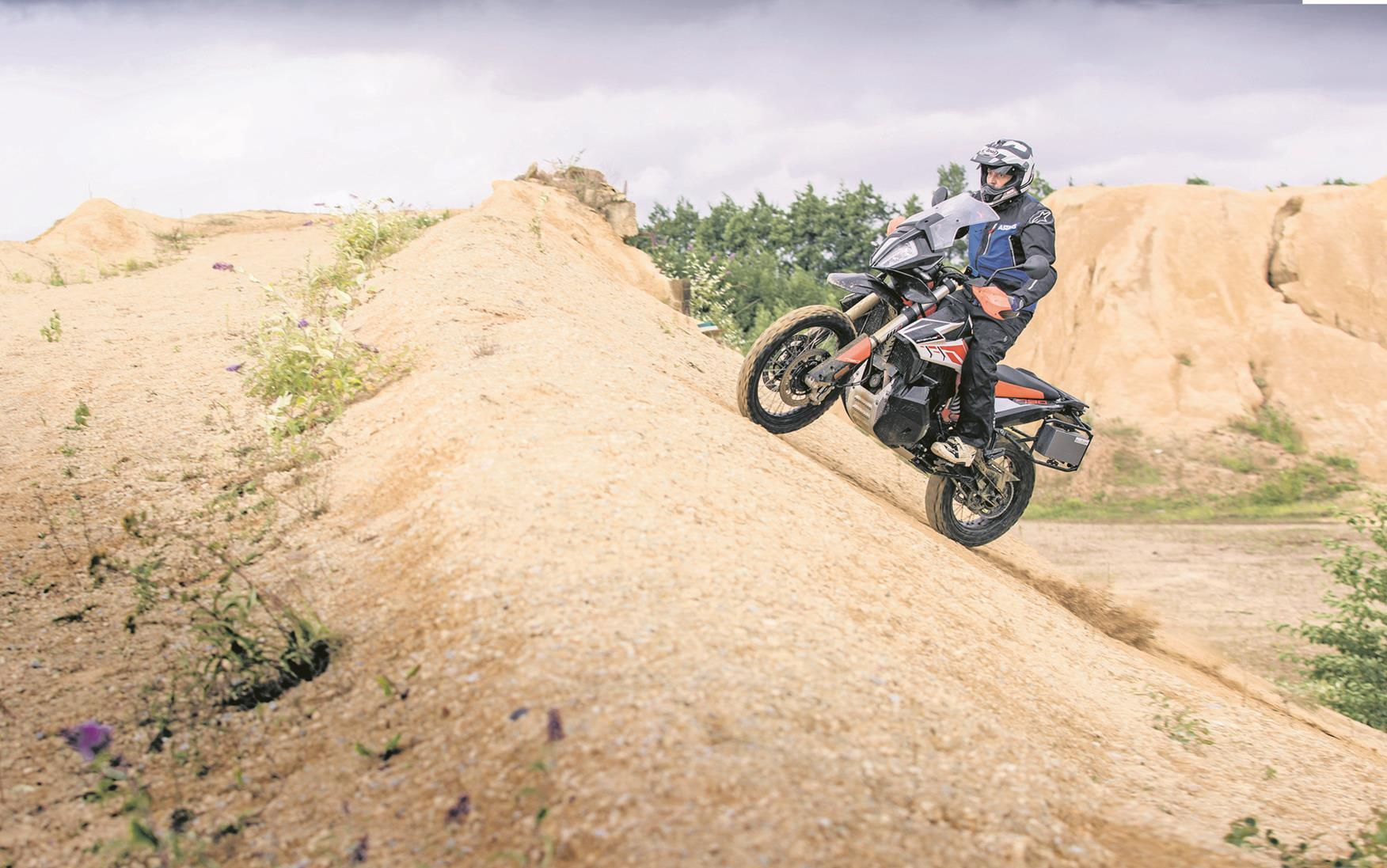 Tackling off-road aboard the KTM 790 Adventure R