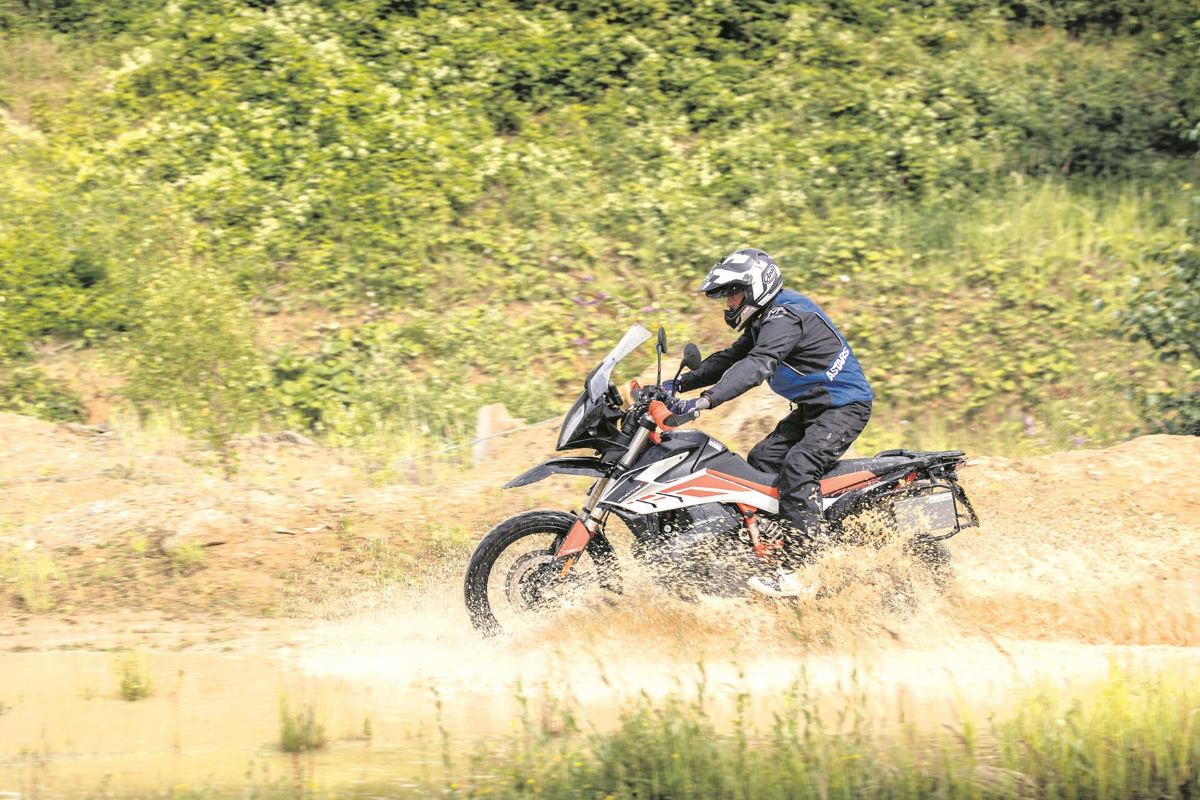 KTM 790 Adventure R hits the water