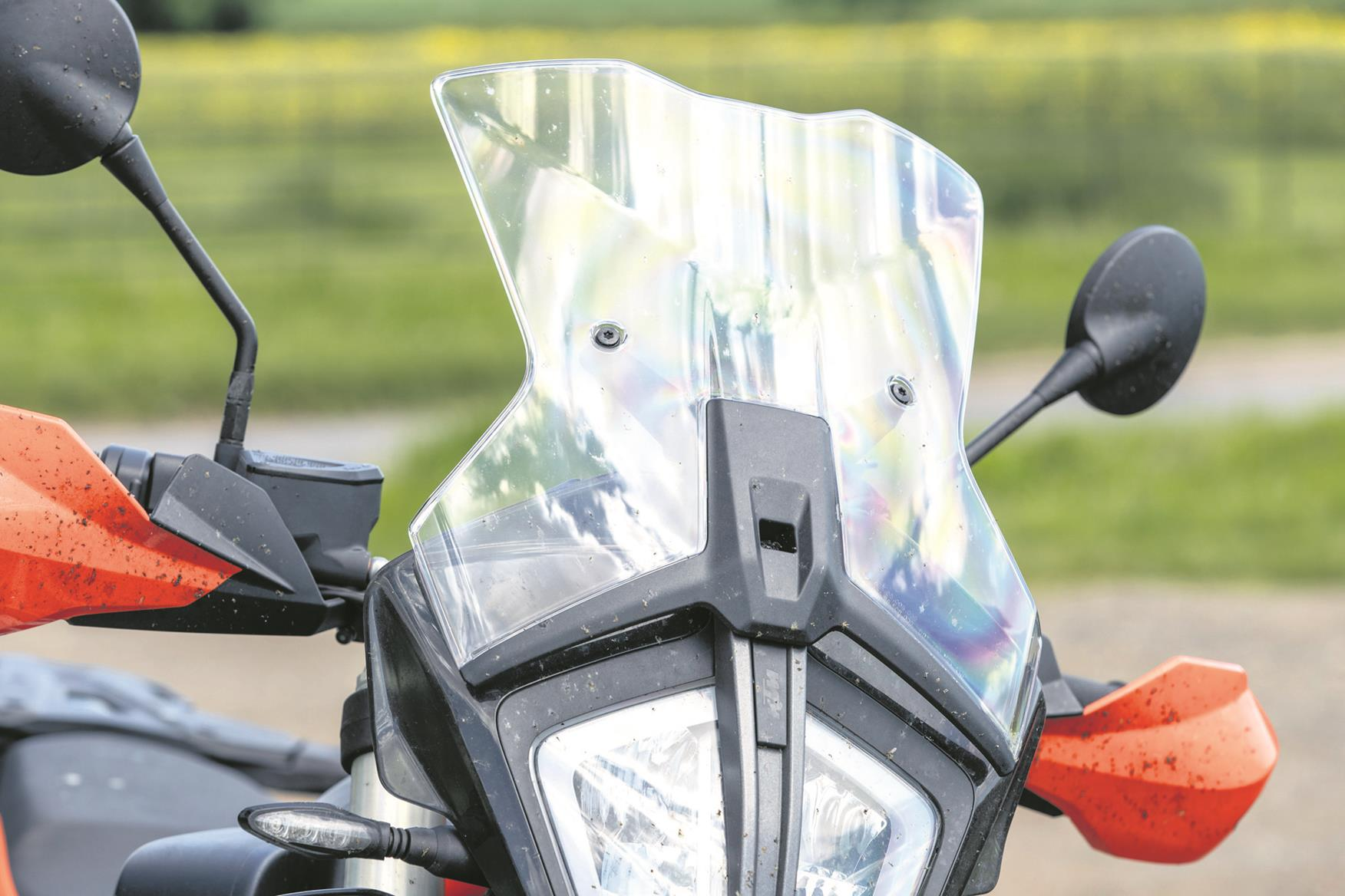 The KTM 790 Adventure R standard screen causes problems