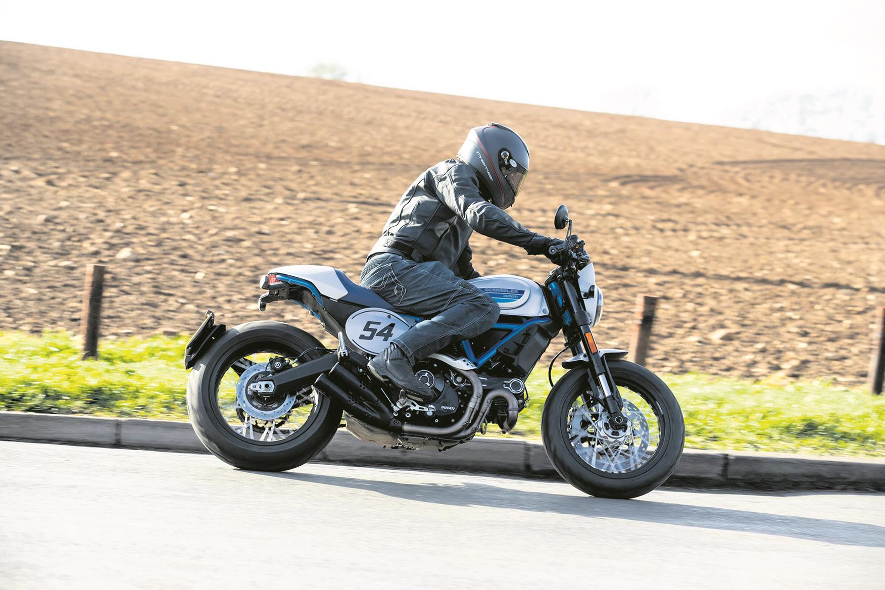 Ducati Scrambler cornering