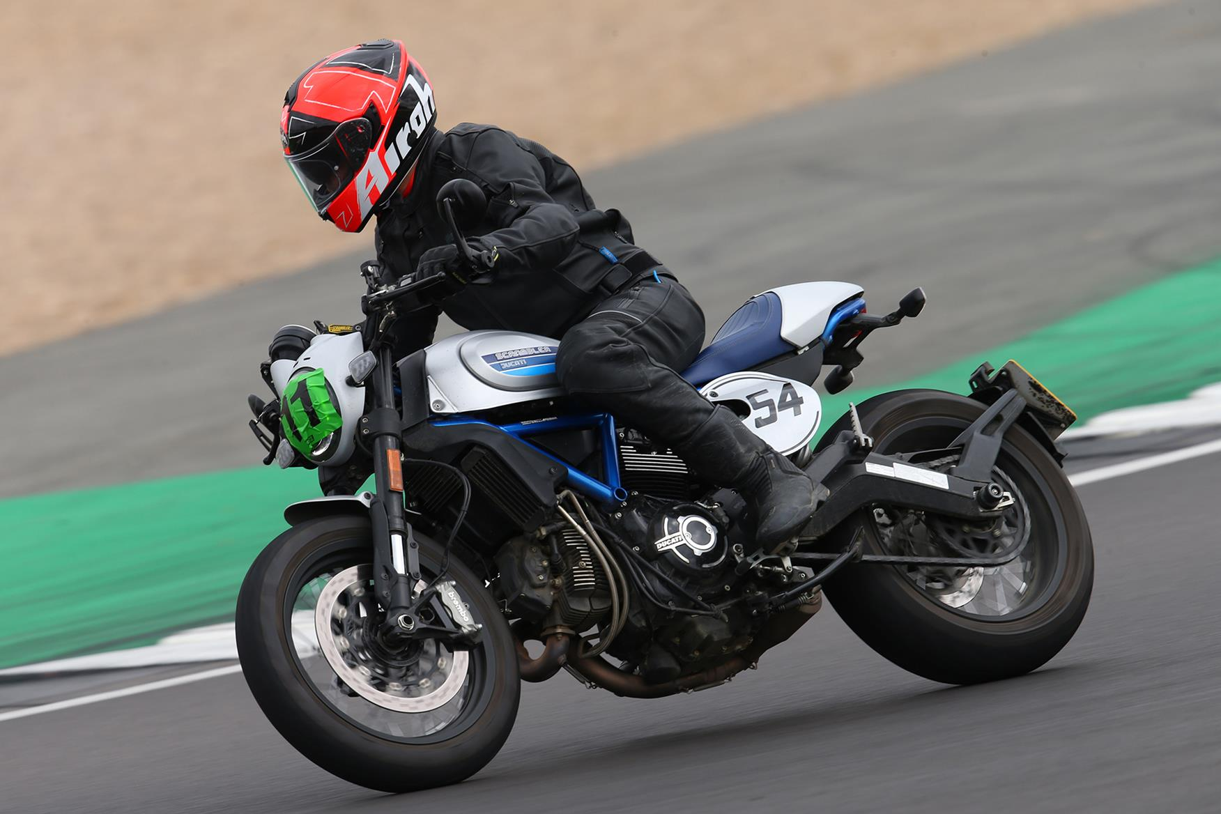 Taking the Ducati Scrambler Cafe Racer on track