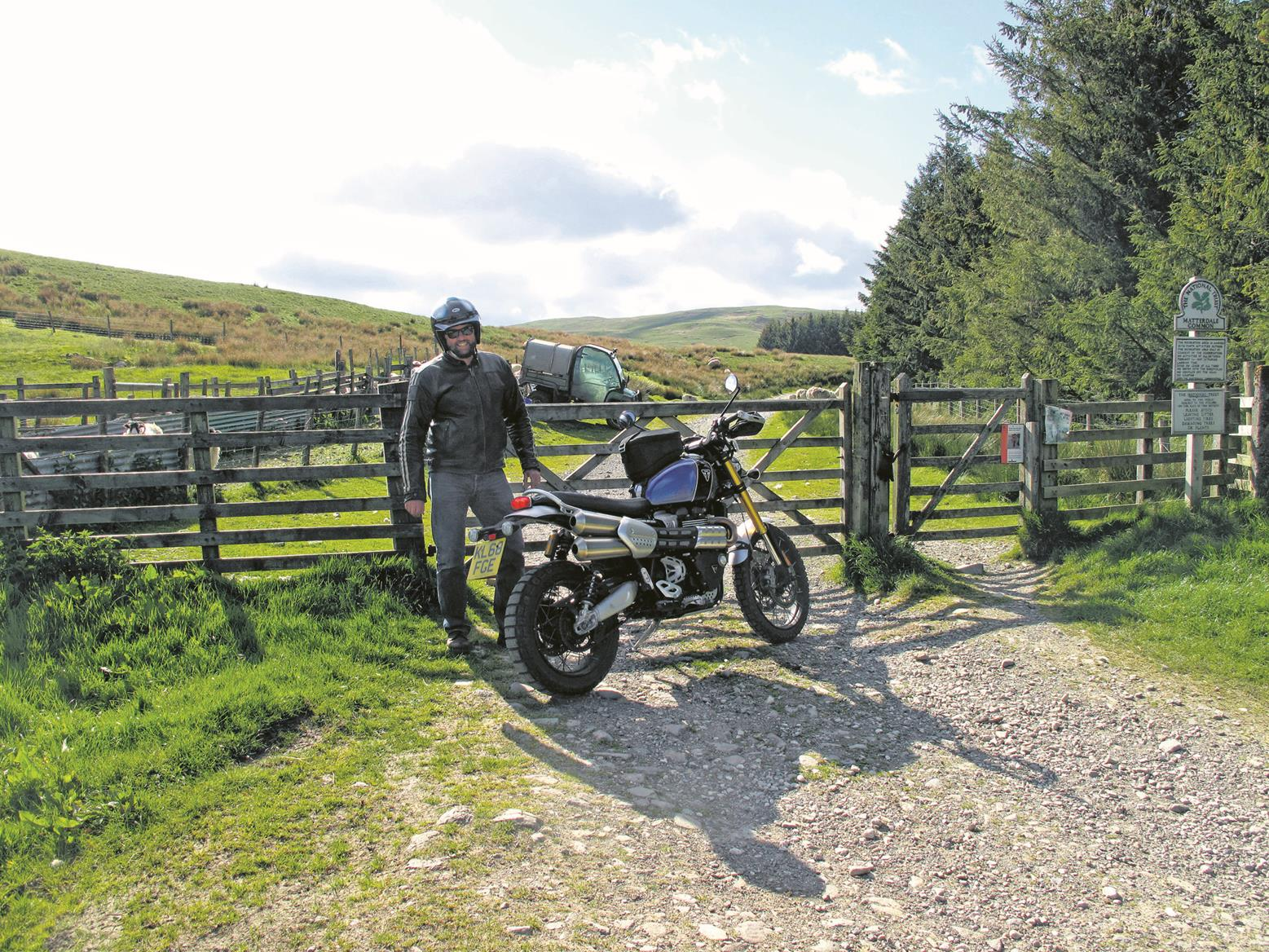 Heading for the green lanes on the Triumph Scrambler 1200 XE