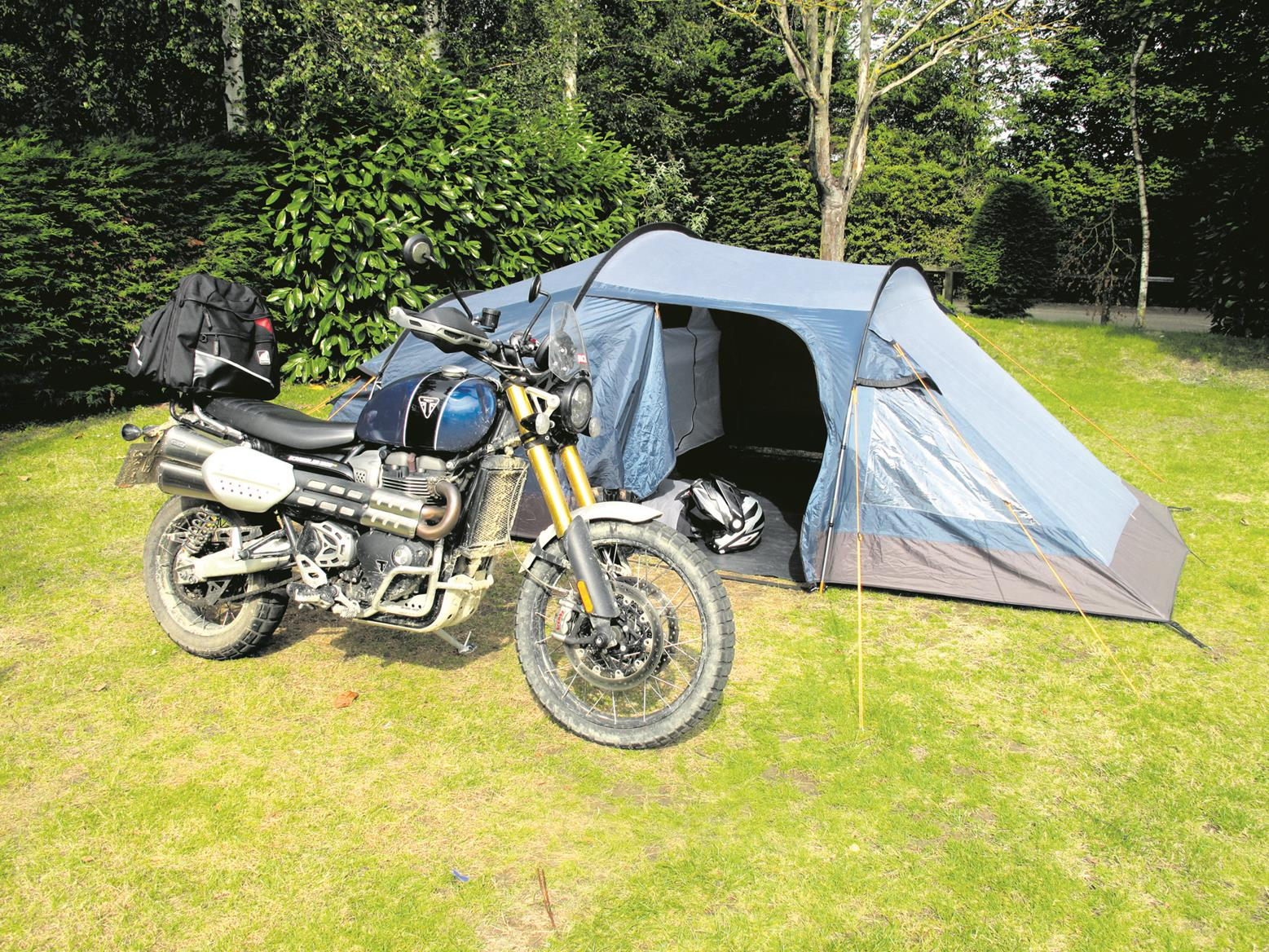 Camping on the Triumph Scrambler 1200 XE