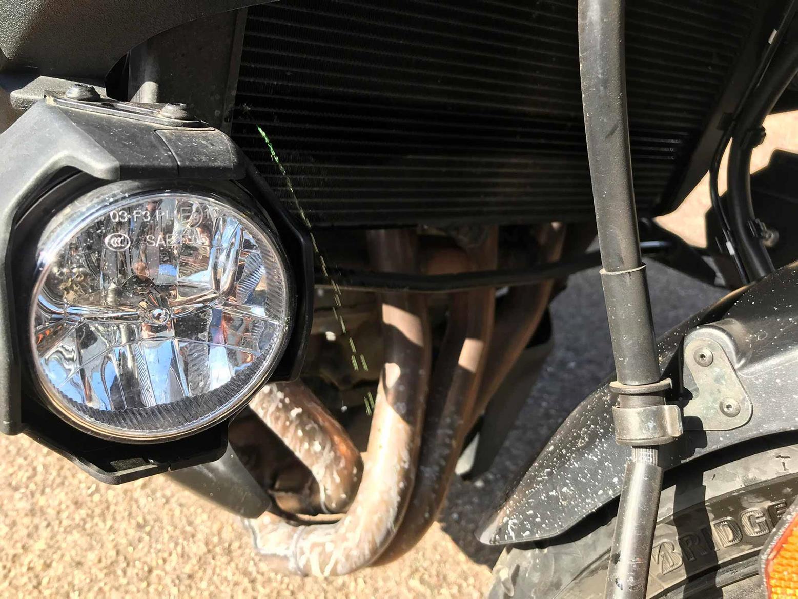 Kawasaki Versys 1000 SE radiator leak