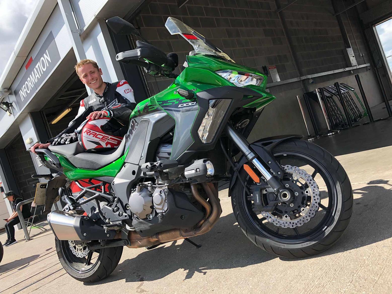 Dan with the Kawasaki Versys 1000 SE