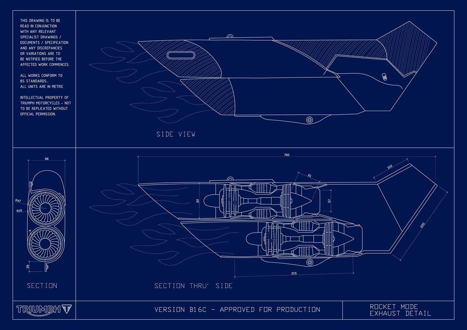 Triumph Rocket blueprint