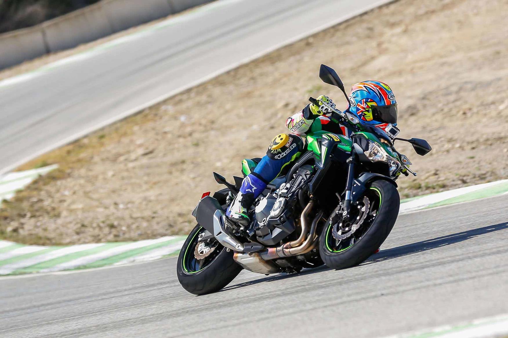 Track testing on the Kawasaki Z900