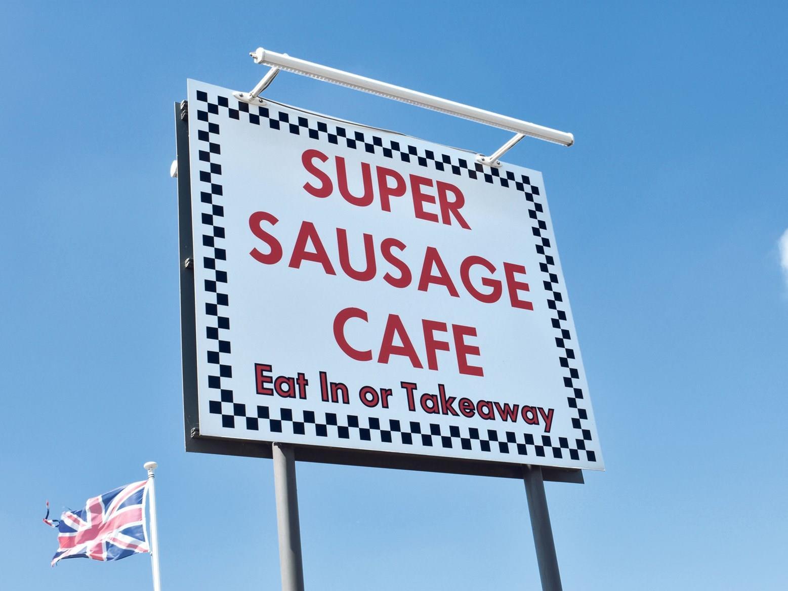 Super Sausage Cafe sign