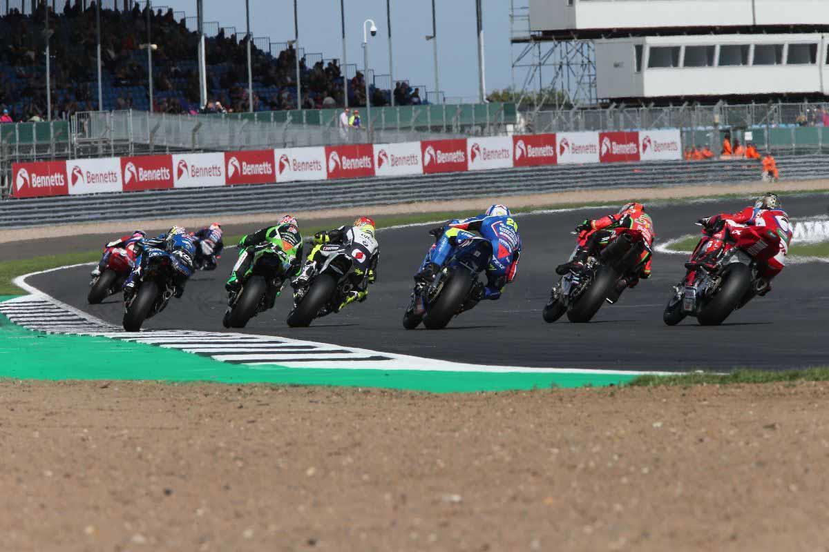 British Superbike action at Silverstone
