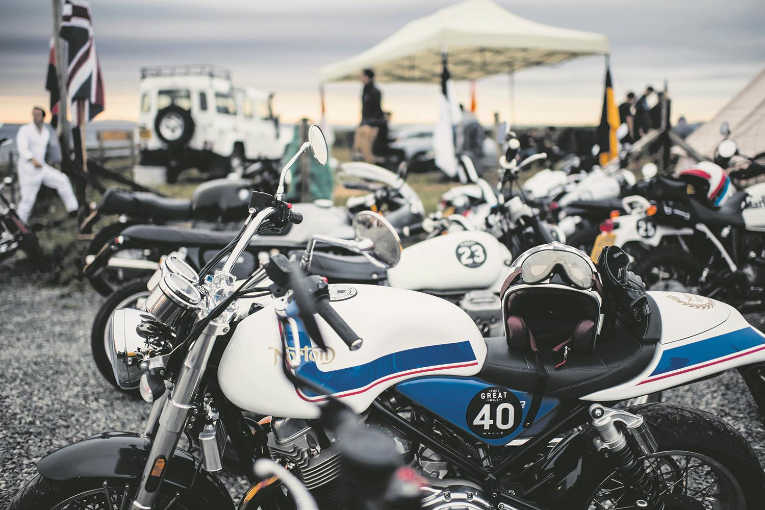Motorbikes at the Great Malle Rally