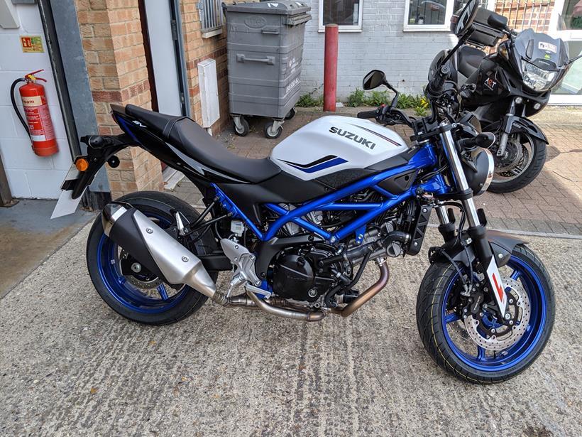 The Suzuki SV650 Gareth learnt to ride on