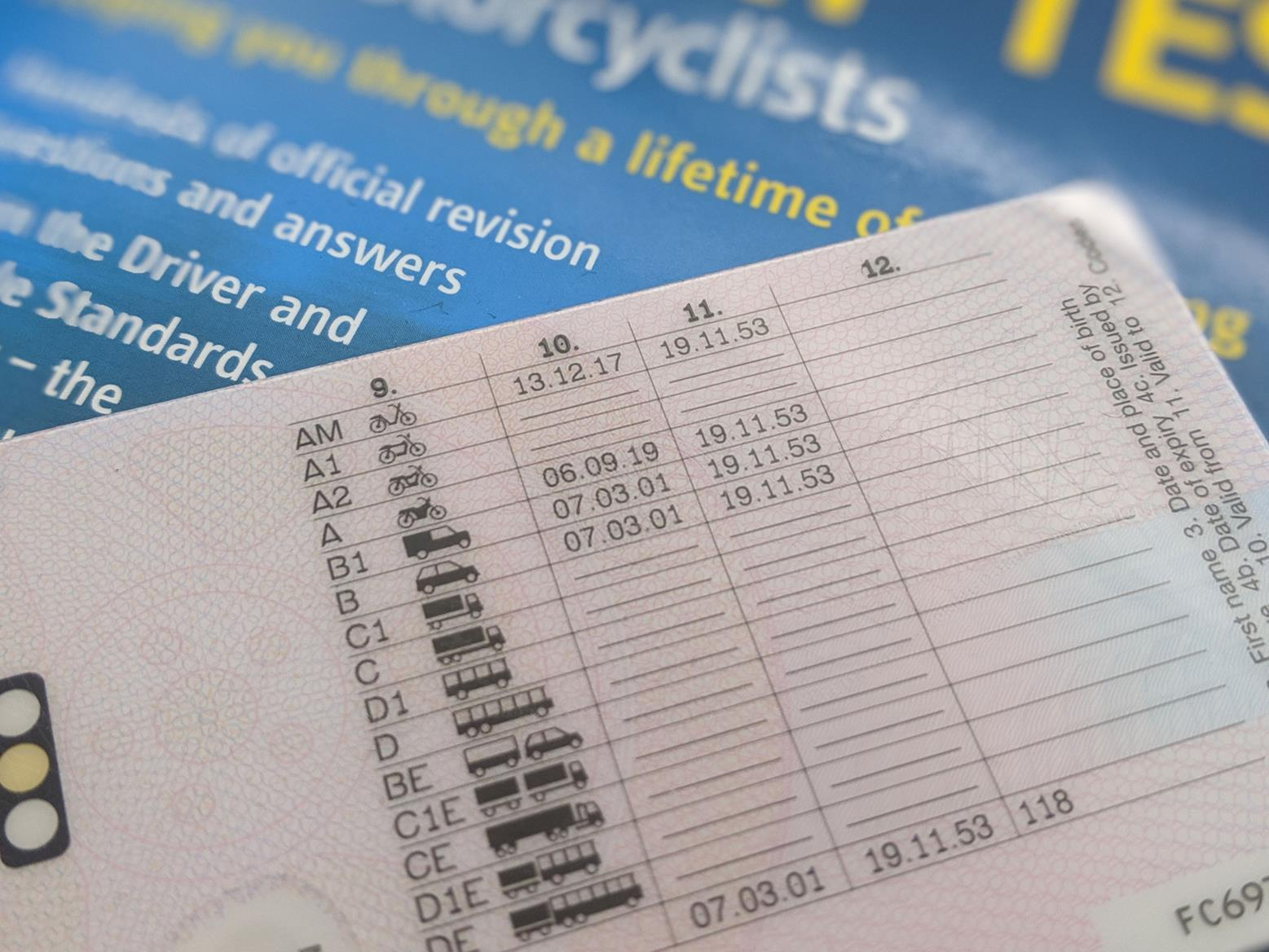 You can spend a lot of money trying to get the 'A' category filled in on your UK driving licence