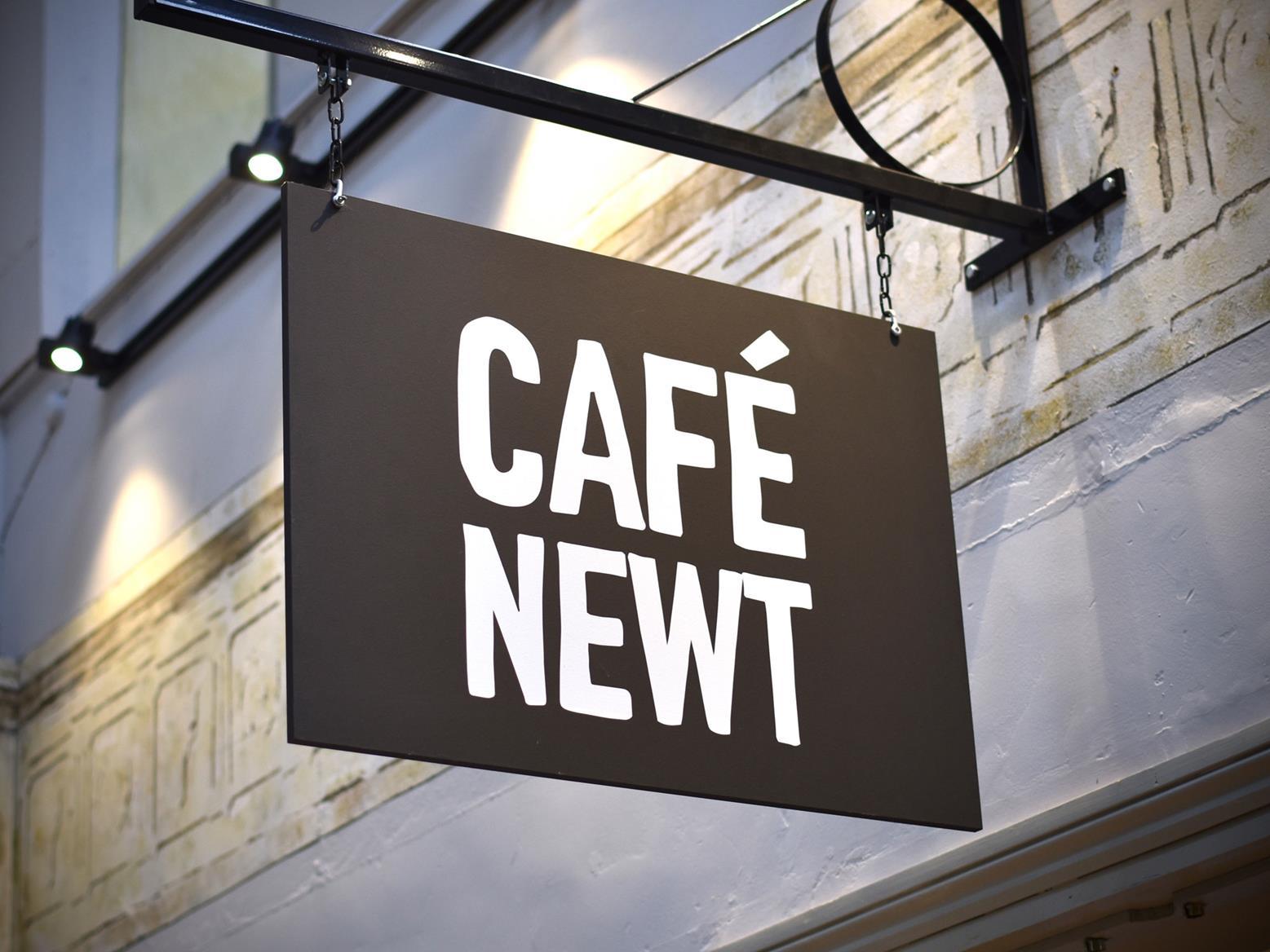 Cafe Newt sign